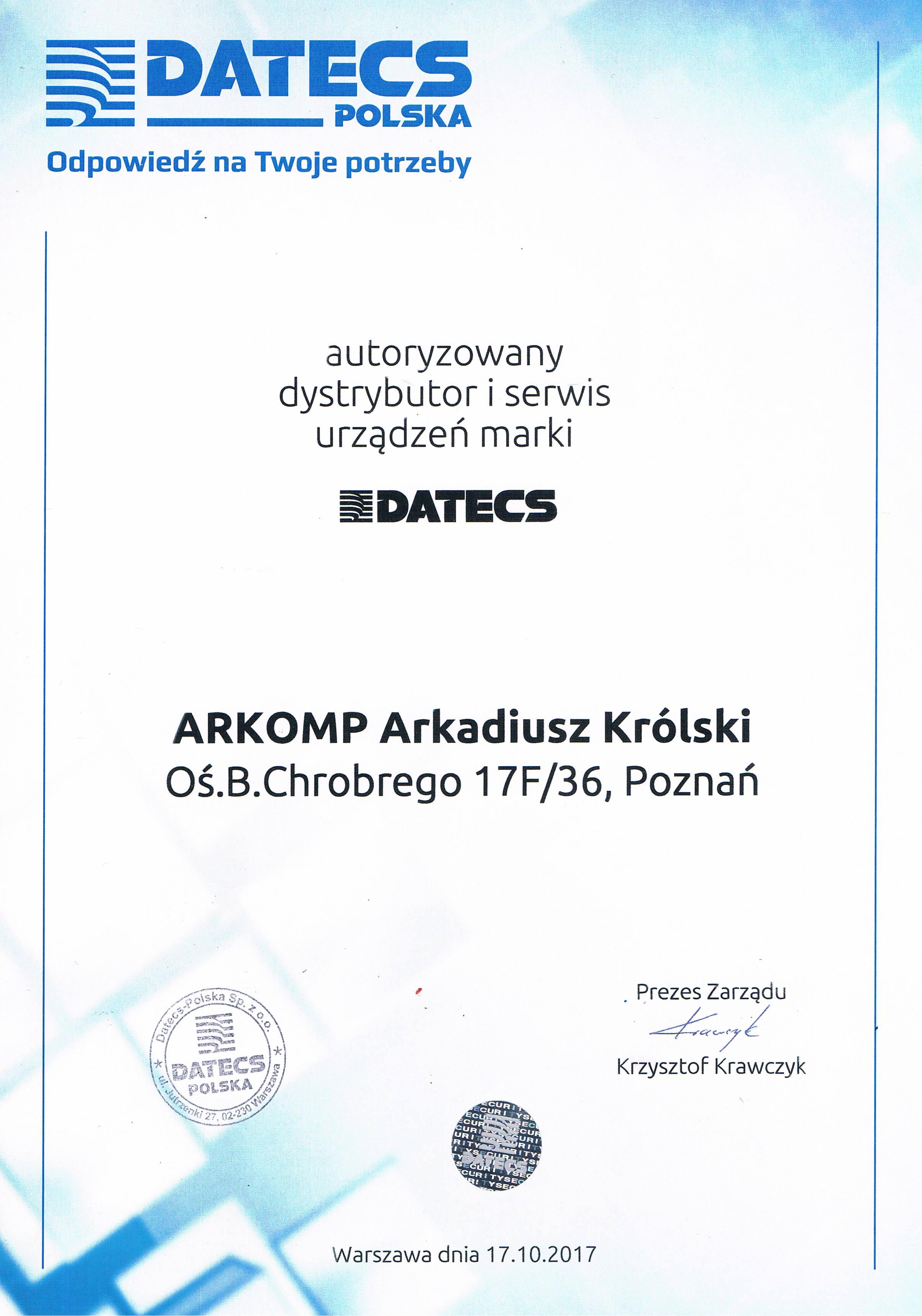 ARKOMP-Autoryzowany-Serwis-Datecs